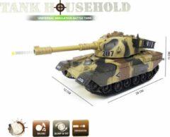 Groene LX toys Tank US M60 met geluid en kan bewegen - schiet plastiek balletjes - speelgoed tank 29CM 1:24 (incl. batterijen)