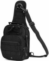 Merkloos / Sans marque Zwart Protector Plus X201 multifunctionele nylon slingertas rugtas half heuptas   schoudertas   backpack   daypack   outdoor/servival   X000KPZN2D