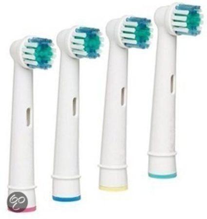 Afbeelding van Witte Scheermesjesfabriek.nl Opzetborstels passend op Oral-B 4 stuks