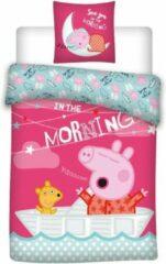 Roze Peppa Pig Junior Dekbedovertrek 100x135 Katoen
