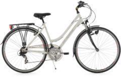 Damen Trekkingrad, 28 Zoll, weiß, 21 Gang SHIMANO-Schaltung, Flachlenker, »Vegas«, KS Cycling