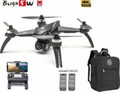 Zwarte MJX Drone Bugs 5W met 4K Ultra HD live camera + GPS 1000M en volgsysteem - Brushless motoren - Extra accu pack en Origineel Opbergtas !