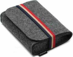 Antraciet-grijze Shotkings Mini etui, pouch voor kabels, koptelefoon, telefoon of HDD in Jan Taminiau style.