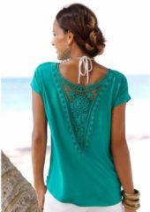 Groene LASCANA shirt met bloemenprint allover