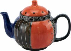 Theepot - Model: Paars-Oranje | Handgemaakt in Zuid Afrika - hoogwaardig keramiek - speciaal gemaakt door Letsopa Ceramics voor Nwabisa African Art