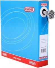 Zilveren Schakel binnenkabels Elvedes 2250mm RVS ø1,1mm Shimano N-nippel ø4,5×4,5 (100 stuks)