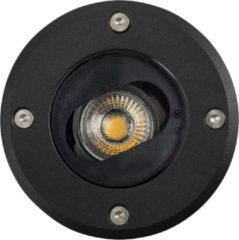 KS Verlichting Richtbare Grondspot LED Ø12 Rond Zwart