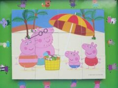 Peppa Pig Houten Blok puzzle 12 stukjes