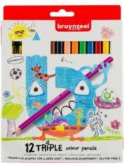 Koninklijke Talens B.V Bruynzeel Kids 12 driekantige kleurpotloden met slijper