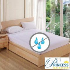 Princessmatrassen Waterdicht Matrasbeschermer-Hoeslakenbadstof-Antibacteriëel-Rondom Elastiek -Wit - 2Persoons-140x200-cm