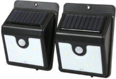 EASYmaxx LED-Solar-Wandleuchte 2er Set