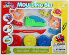Huismerk Kid's Toys Klei Moulding Set - 3 Potjes klei met Vormpjes