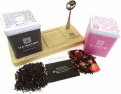 Dutch Tea Maestro - thee cadeau - losse thee - Earl Grey & Zwarte thee roos - origineel moederdag cadeautje