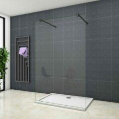 Sanexo Inloopdouche Vrijstaand Blossom 900x2000 8mm Helder Glas Mat Zwart