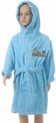 Blauwe Merkloos sponge - badjas - 2/4 jaar - blauw