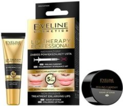 Gouden Eveline Cosmetics Eveline Lip Therapy - suger lip scrub - hyaluronzuur lip filler