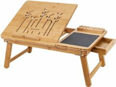Naturelkleurige EKEO - Bamboe Bedtafel - Schoottafel - Laptoptafel - 35 x 55 x 23 cm (L x B x H)