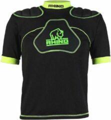 Rhino Sportshirt Senator Jongens Polyester/elastaan Zwart/groen Maat S