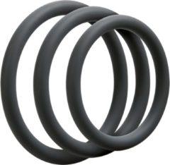 Grijze Doc Johnson - Optimale - 3 C-Ring Set - Thin - Slate