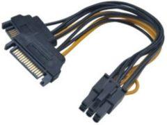 Akasa AK-CBPW13-15 kabeladapter/verloopstukje 2 x SATA 6-pin PCIe Zwart