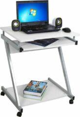 Witte Vasagle Songmics Computerbureau - Verrijdbare Z-Vormige Computer Desk - Werkstation - Bureau