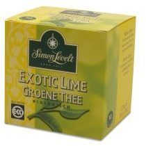 Simon Levelt Groene Thee Exotic Lime Zakjes 10st