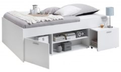 Witte FD Furniture Eenpersoonsbed Carlo 204x96cm - Wit