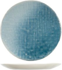 Cosy&Trendy Jacinto Blauw Dessertborden - Aardewerk - D21,5cm (Set van 6) En Yourkitchen E-kookboek - Heerlijke Smulrecepten