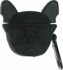 Zwarte Landlit Frenchie the Bulldog - AirPods Case - AirPods 1 en 2