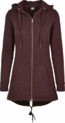 Bordeauxrode Urban classics Dames Sweat Parka 1075 bordeaux