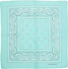 Zac's Alter Ego Bandana Mint groen Paisley print Mondkapje Groen