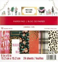 Craft Smith: Miss Claus 6x6 Inch Paper Pad (MSE4873)