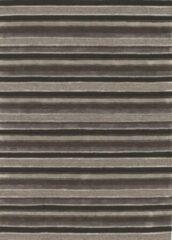 LIGNE PURE Reflect – Vloerkleed – Tapijt – handgeknoopt – wol – eco – modern – Multi Grijs - 200x300