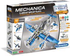 Blauwe Clementoni - Mechanica Laboratorium - Vliegtuigen en Helikopters - Constructiespeelgoed STEM