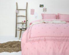 Fancy Embroidery RL 12 - Dekbedovertrek - Eenpersoons - 140x200/220 + 1 kussensloop 60x70 - Roze