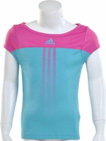 Afbeelding van Adidas Girls Response Capsleeve - Sportshirt - Kinderen - Maat 176 - Intens Blauw;Intens Roze
