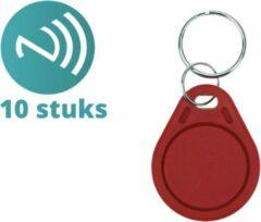 NFCW.nl Mifare classic 1K sleutelhangers rood - RFID Tags - RFID - 10 stuks