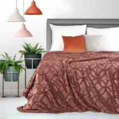 Oranje Luxe bed sprei – deken – Brulo – Polyester – 70 x 160 cm