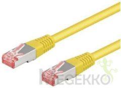 Goobay Geen 111086 - Cat 6 UTP-kabel - RJ45 - 0.25 m - geel