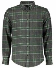 Grijze Anerkjendt Aklouis check shirt 0526m grey