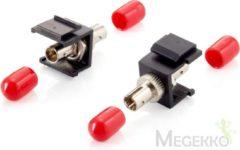 Grijze Equip 125571 glasvezeladapter ST Zwart, Metallic 8 stuk(s)