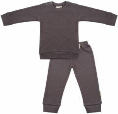 Taupe Little Indians Pyjama Pavement Junior Katoen Grijs Mt 9-12 Maanden