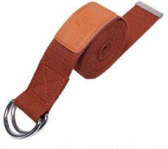 #DoYourYoga - Yogariem - »Amita« - 100% polyester met stabiele metalen ringsluiting - 260 x 3,8 cm - Choco