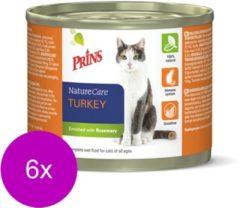 Prins Naturecare Cat Kalkoen - Kattenvoer - 6 x 200 g