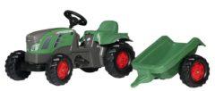 Groene Rolly Toys traptractor RollyKid Fendt 516 Vario junior groen/grijs