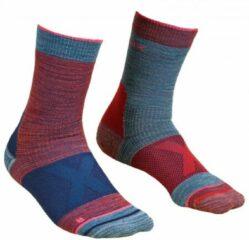 Ortovox - Women´s Alpinist Mid Socks - Trekkingsokken maat 42-44 blauw/rood