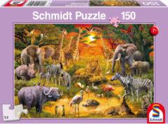 Schmidt Animals In Africa Puzzel - 150 Stukjes