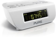 Pure Siesta Mi Series 2 kompakter Radiowecker mit DAB+ Digital- und UKW-Radio - weiß