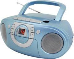 Soundmaster SCD5100 Radio-Kassettenspieler, mit CD-Player, verschiedene Farben Farbe: Blau