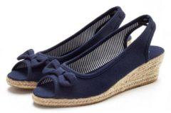 Blauwe LASCANA espadrille-sandaaltjes